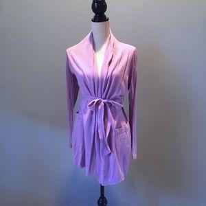 CYNTHIA ROWLEY Light Purple Long Cardigan Wrap