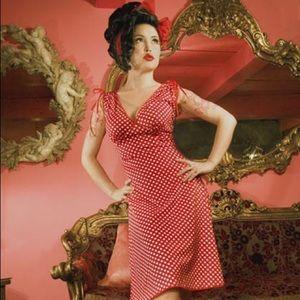 Pinup Couture Anna Polka Dot Dress Size 2xl