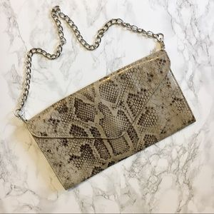 Mossimo Snakeskin Envelope Clutch