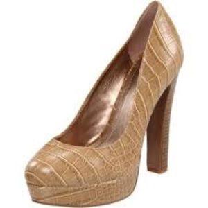10bde59c084d BCBGeneration Shoes - BCBG Jodie tan crocodile round toe pump NWT size 8