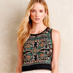 Vanessa Virginia Barbera Midi Embroidered Crop Top