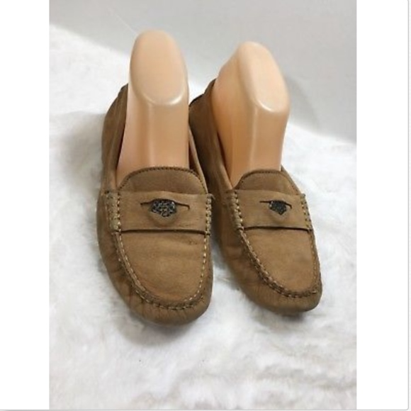 fb2983f911e Coach Shoes - Coach Size 8 Nicola Brown Loafers Mocassin Shoes