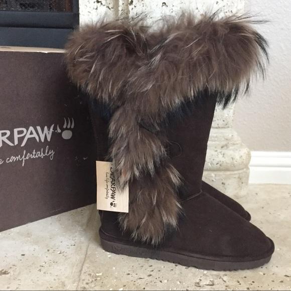 ec392adfbacf BEARPAW Whitney Fur Snow Boot New Size 9 (39)