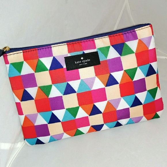 new styles 4b80a 21990 Kate spade multi colored makeup bag