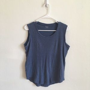 Madewell Blue Steel Muscle Tank