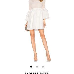Endless Rose White bell sleeve dress