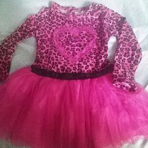 Toddler 3T Pink leopard dress