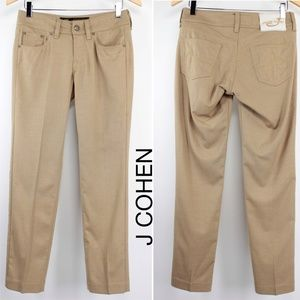 Jacob Cohen Camel Wool Stretch Slim Pants 1000