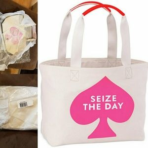 NWT Kate Spade canvas seize the day tote