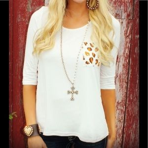 Tops - Leopard detail Tunic