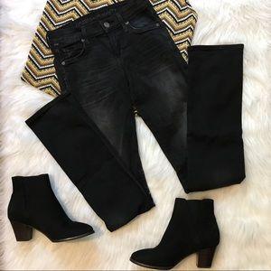 CoH Black Wash Ava Straight Leg Low Rise Jeans