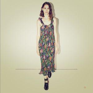 3.1 Phillip Lim Floral Pleated Midi Dress