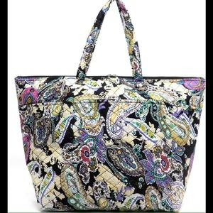 Handbags - XL- Black Paisley Weekender Tote
