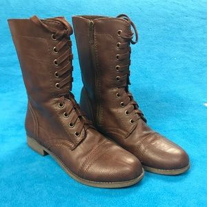 Brown Combat Boots *Worn Once!!*