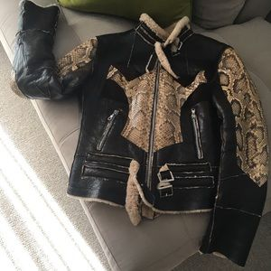 Other - Python & Shearling Jacket / Real Python Skin