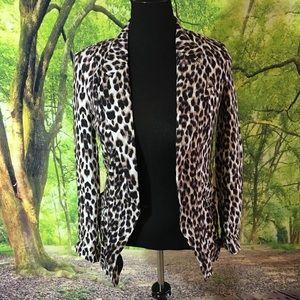 Leopard one button blazer size M