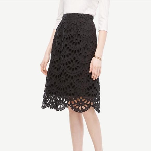 c0cfdbd87d Ann Taylor Skirts | Sale Scallop Eyelet Skirt | Poshmark