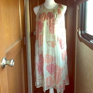 EUC silk dress fully lined.
