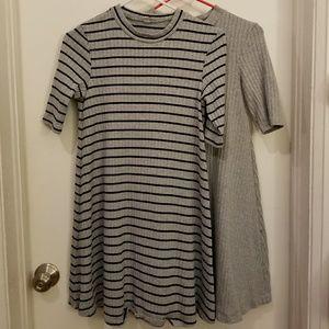 2 Uniqlo Ribbed Shirt Dresses Never Worn