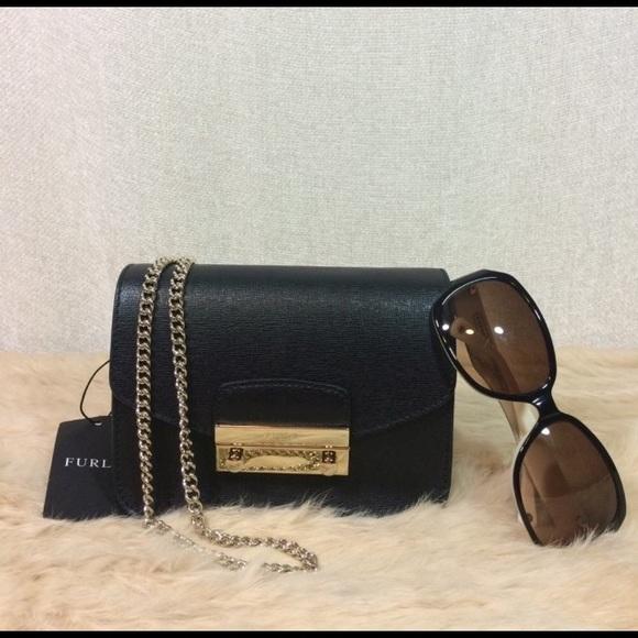 185af2394a6d Furla Black Saffiano Leather Mini Julia Cross Body