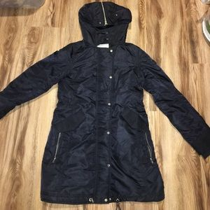 Women's Abercrombie & Fitch black parka