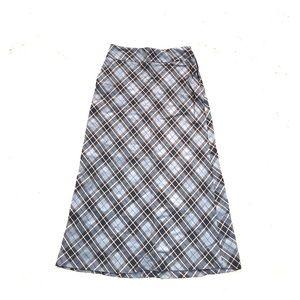 Cherokee Plaid Maxi Skirt