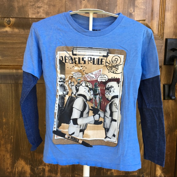 8a51aa7ba Mad Engines star wars Shirts & Tops | Boys Long Sleeve Star Wars ...