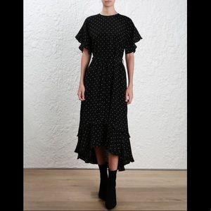 ZIMMERMAN - silk smock polkadot dress