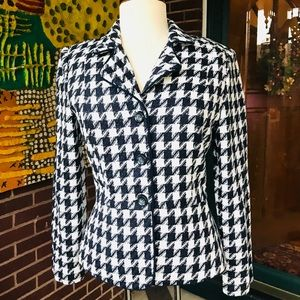 Jessica Howard Houndstooth Blazer