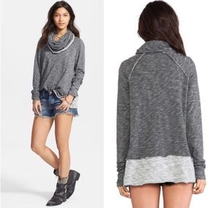 Free People Cowl-neck long sleeve sweater xs/s