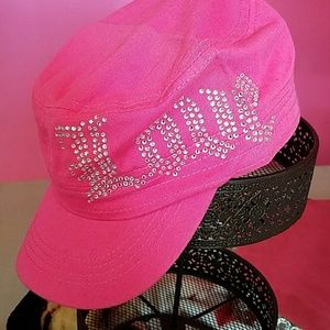 Accessories - New Pink Bling love cap