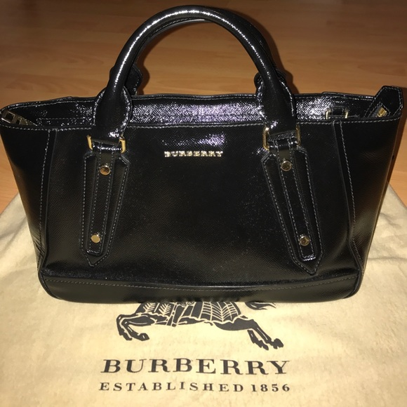 f77feb5e4 Burberry Bags | Somerford Patent Leather Tote | Poshmark