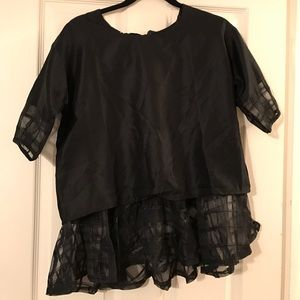 Crazy cool black blouse