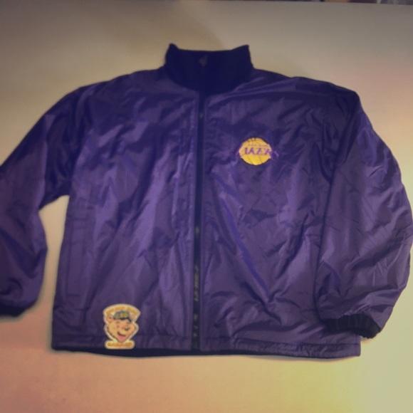 Vintage Jackets Coats Pro Player La Lakers Reversible Jacket Poshmark