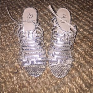 Adrianna Papell Silver Heels