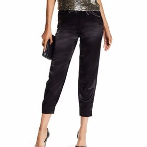 NWT Alice + Olivia black satin pants