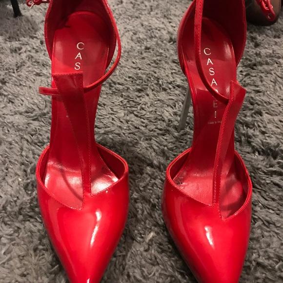 Beautiful Red Casadei Heels | Poshmark