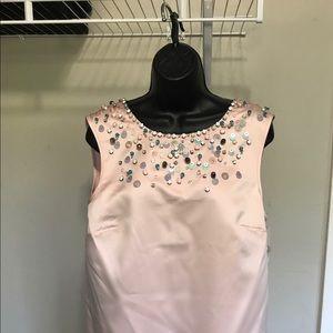 Cynthia Rowley beaded blush cocktail dress