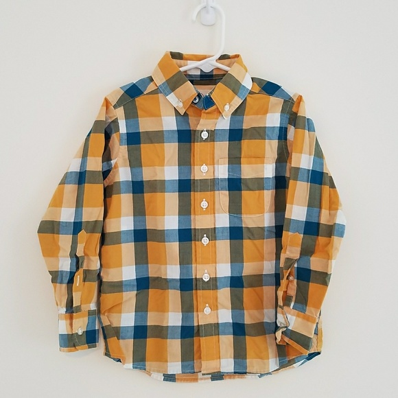61058939ba988 Lands  End boys long sleeve button down shirt