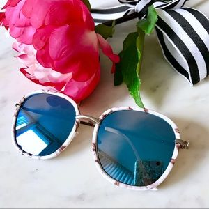 Accessories - 🎁2 for $24! Blue Mirrored Marbled Sunglasses