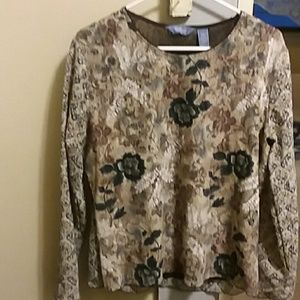 Nice brown color fall blouse.