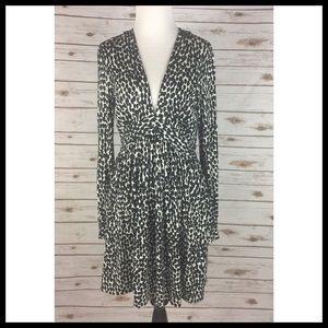 Milly of New York Medium Dress Tan w/ Black Dots