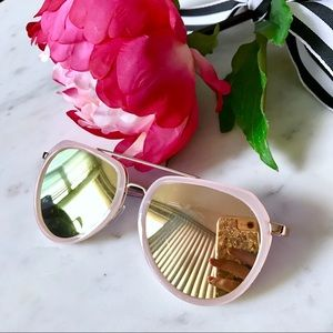 Accessories - 🎁2 for $24! Nude Rimmed Mirrored Sunglasses