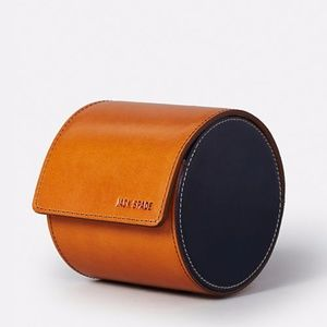 Jack Spade Mitchell Leather Tie Canister