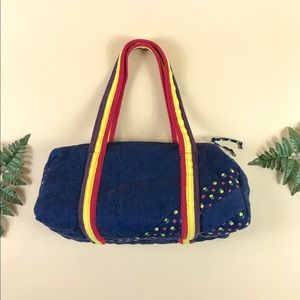 1970s quilted duffle bag 🌟 retro overnight bag