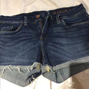 Blank denim jean shorts