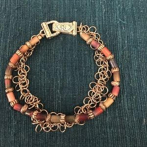 Jewelry - Multi colored two strand beaded bracelet