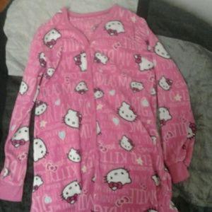 Adult size small footie pajamas