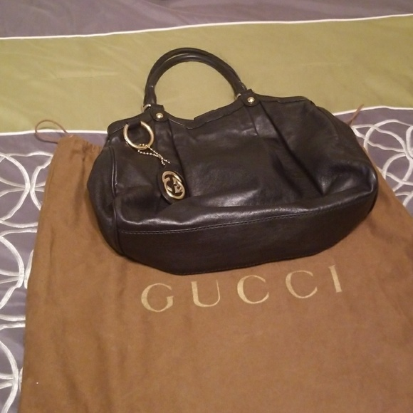 e40d925990f6 Gucci Bags | Authentic Black Leather Vintage Sukey | Poshmark