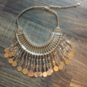 Aldo coin statement necklace.
